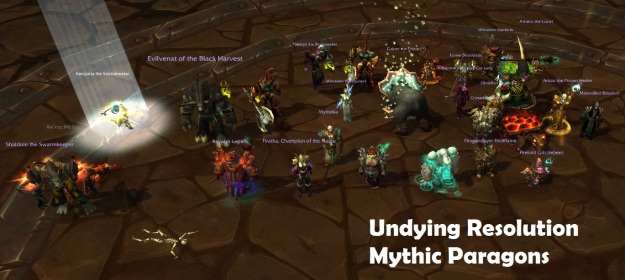 Undying Resolution Mythic Paragons