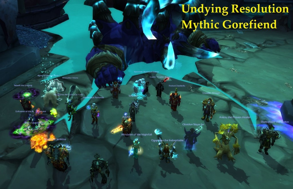 Mythic Gorefiend Boss Kill Pic